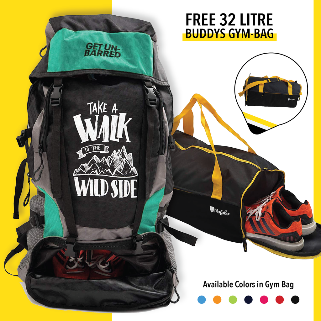 Get Unbarred 55 Litre - Turquoise + FREE Gym Bag 32 Ltr