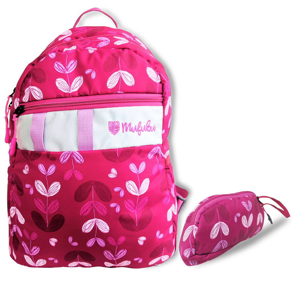Gini' N' Poko Kids  Backpack- Pink Lillies