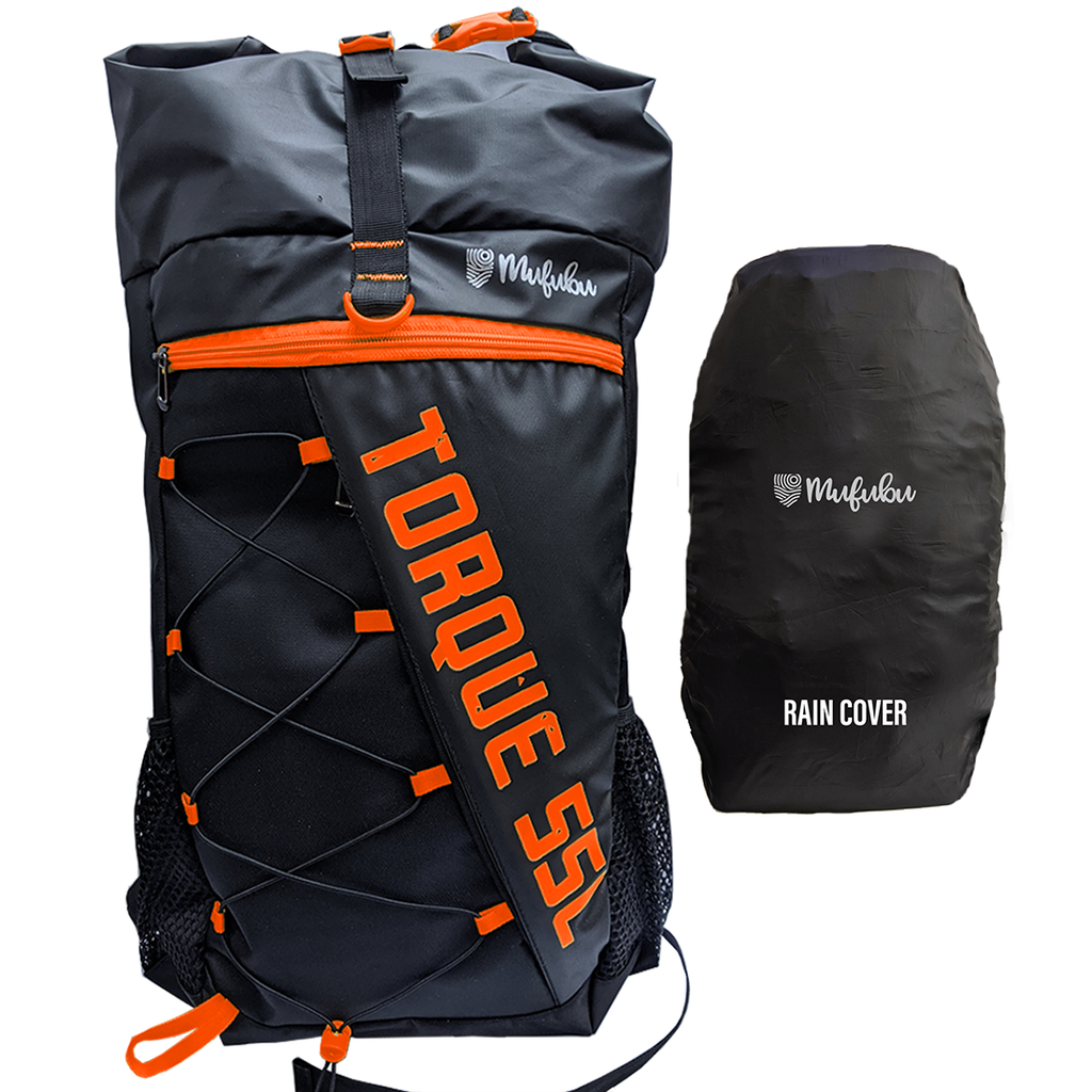 Torque 55 Ltr Orange Rucksack with Rain Cover