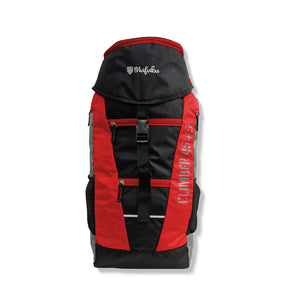 Climber 45 + 5 LTR Rucksack with Rain Cover (Black/Red)
