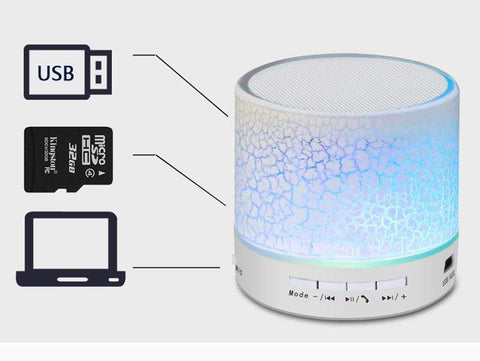 Caixa de Som com Led Bluetooth