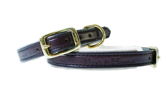 Dog Collar - Havana and Natural