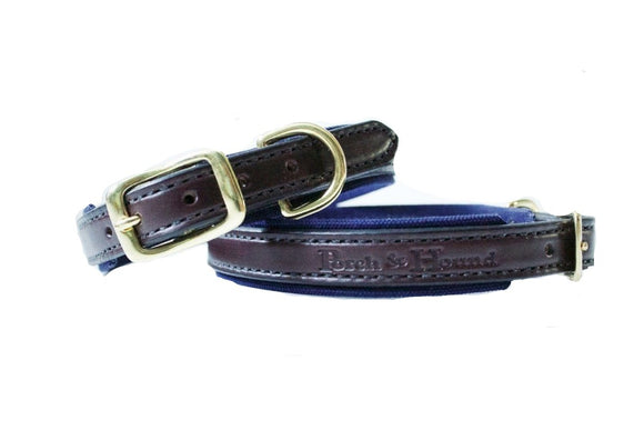 Dog Collar - Havana and Navy
