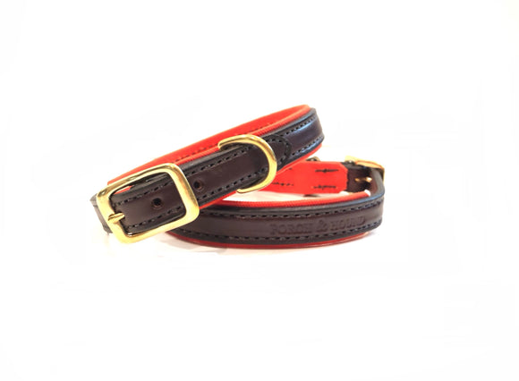 Dog Collar - Havana and Orange