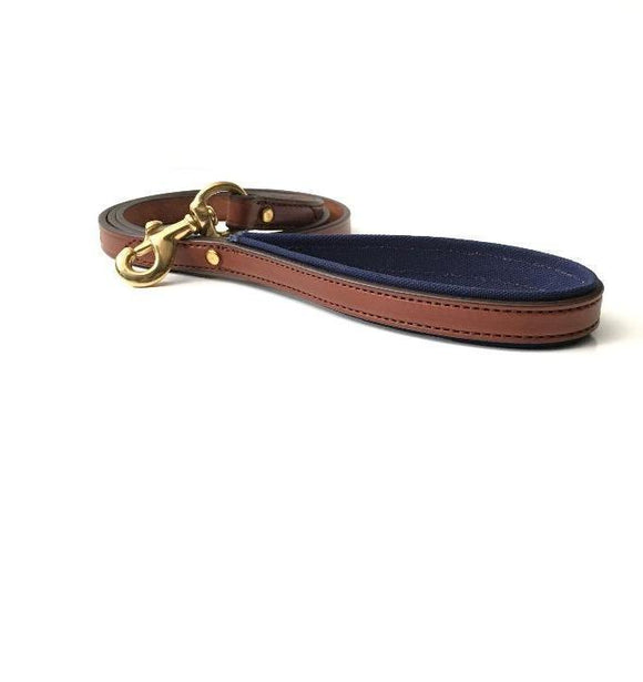 Dog Leash - Leather and Canvas - more colors available