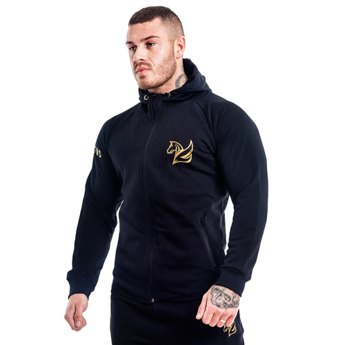 CONQUER ZIP HOODY BLACK | Hoodies & Jackets | Pegasus Athletic