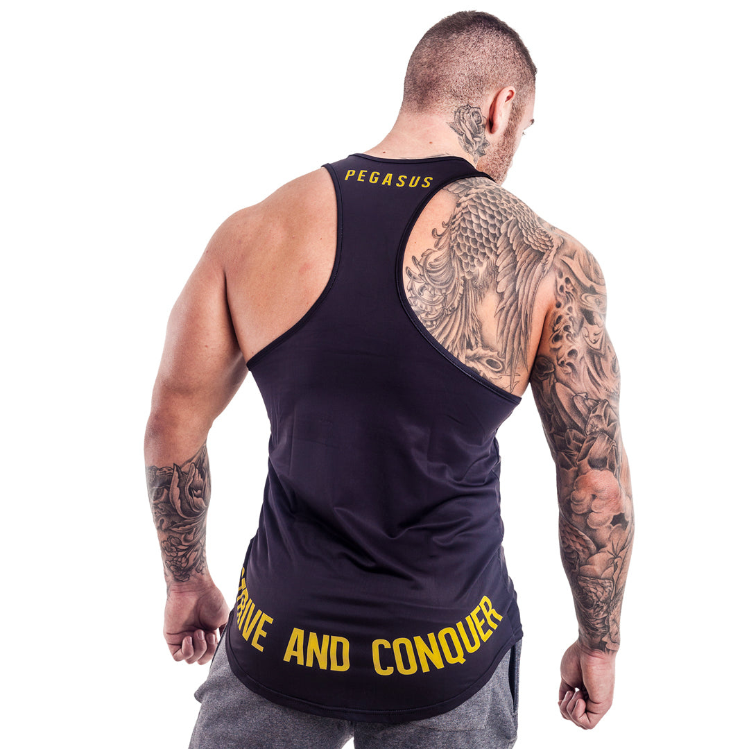 FLYTE STRINGER BLACK | Gym Stringer | Gym Vest | Pegasus Athletic