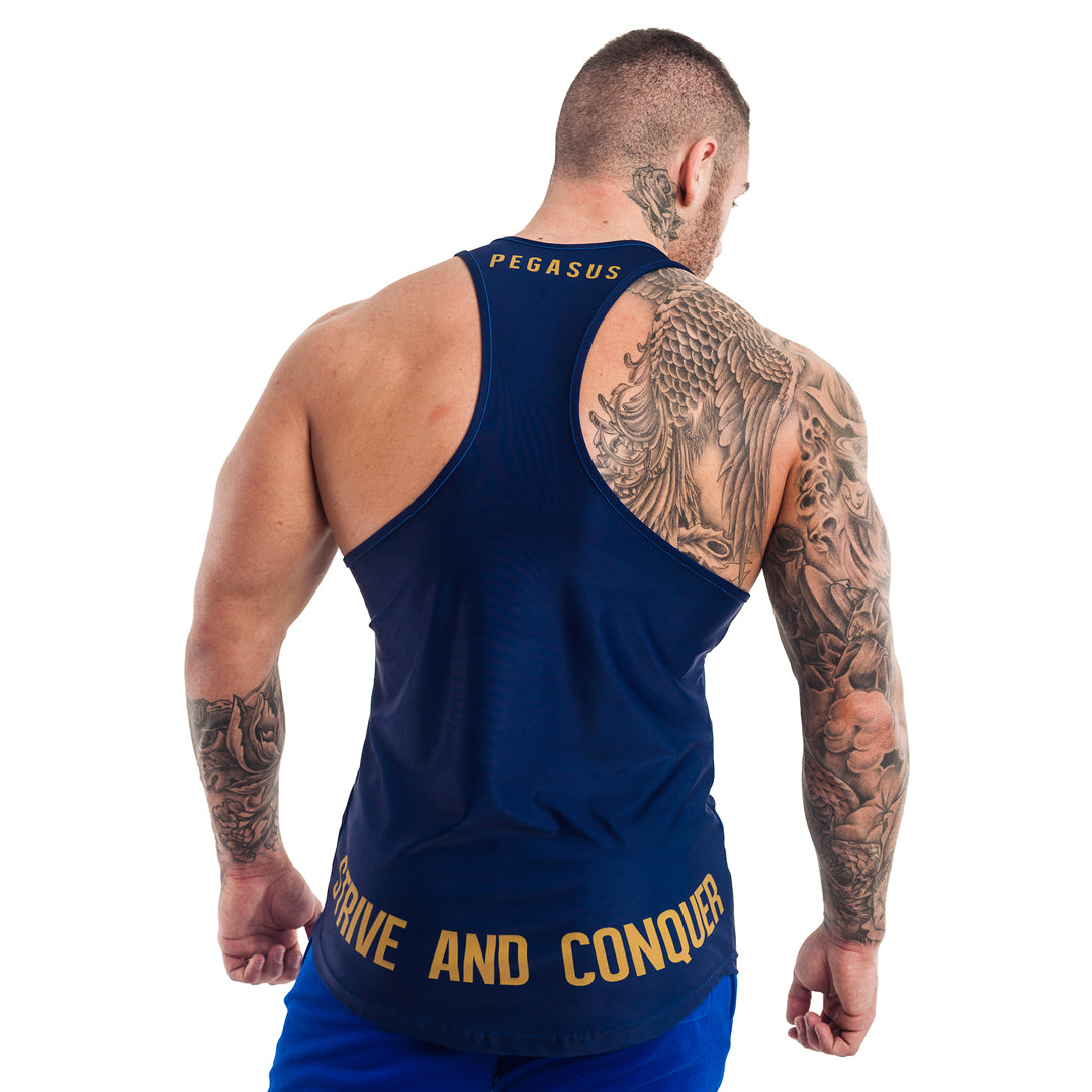 FLYTE STRINGER NAVY | Gym Stringer | Gym Vest | Pegasus Athletic