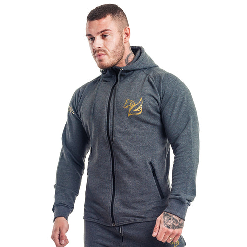 CONQUER ZIP HOODY GREY | Hoodies & Jackets | Pegasus Athletic