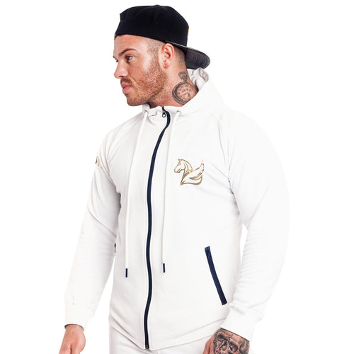 CONQUER ZIP HOODY ARCTIC WHITE | Hoodies & Jackets | Pegasus Athletic