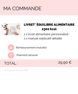 Équilibre alimentaire 2300 kcal