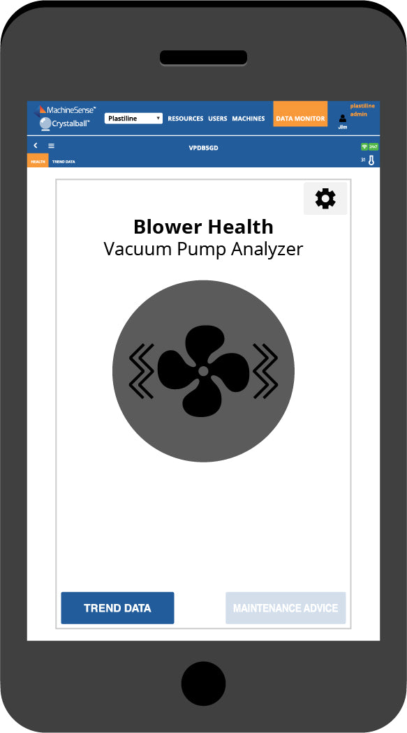 The Blower Health dashboard