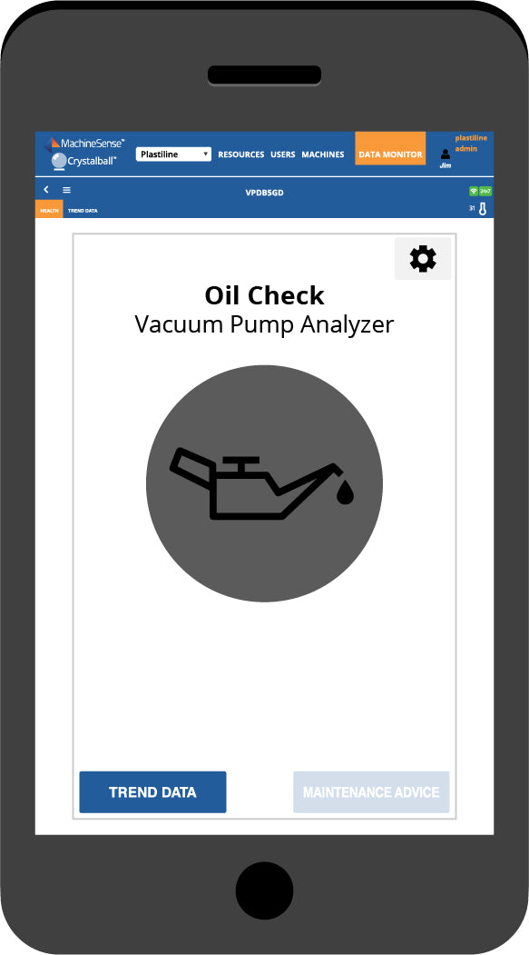The Oil Check dashboard