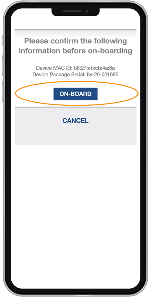 Onboarding a FeverWarn Scanner with the App (Figure 29)