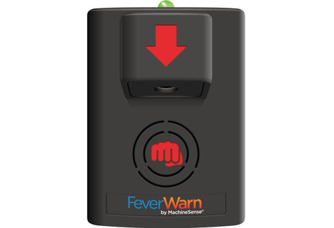 FeverWarn Hand Scanner Unit, Model 100 - FeverWarn-Basic ( Go, No Go/Mobile App Supported/No Cloud/Local storage)