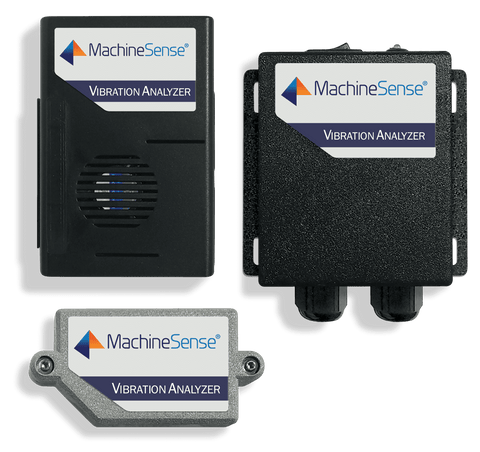MachineSense Vibration Analyzer 115/230 VAC + 1 Sensor Kit + 1 Data Hub