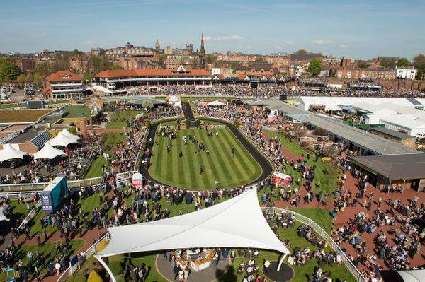Chester Food and Drink Festival. Aerial Shot.