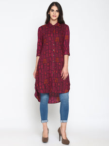 Printed High Low Tunic