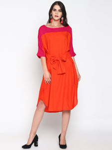 Color Block Shift Dress | UNTUNG