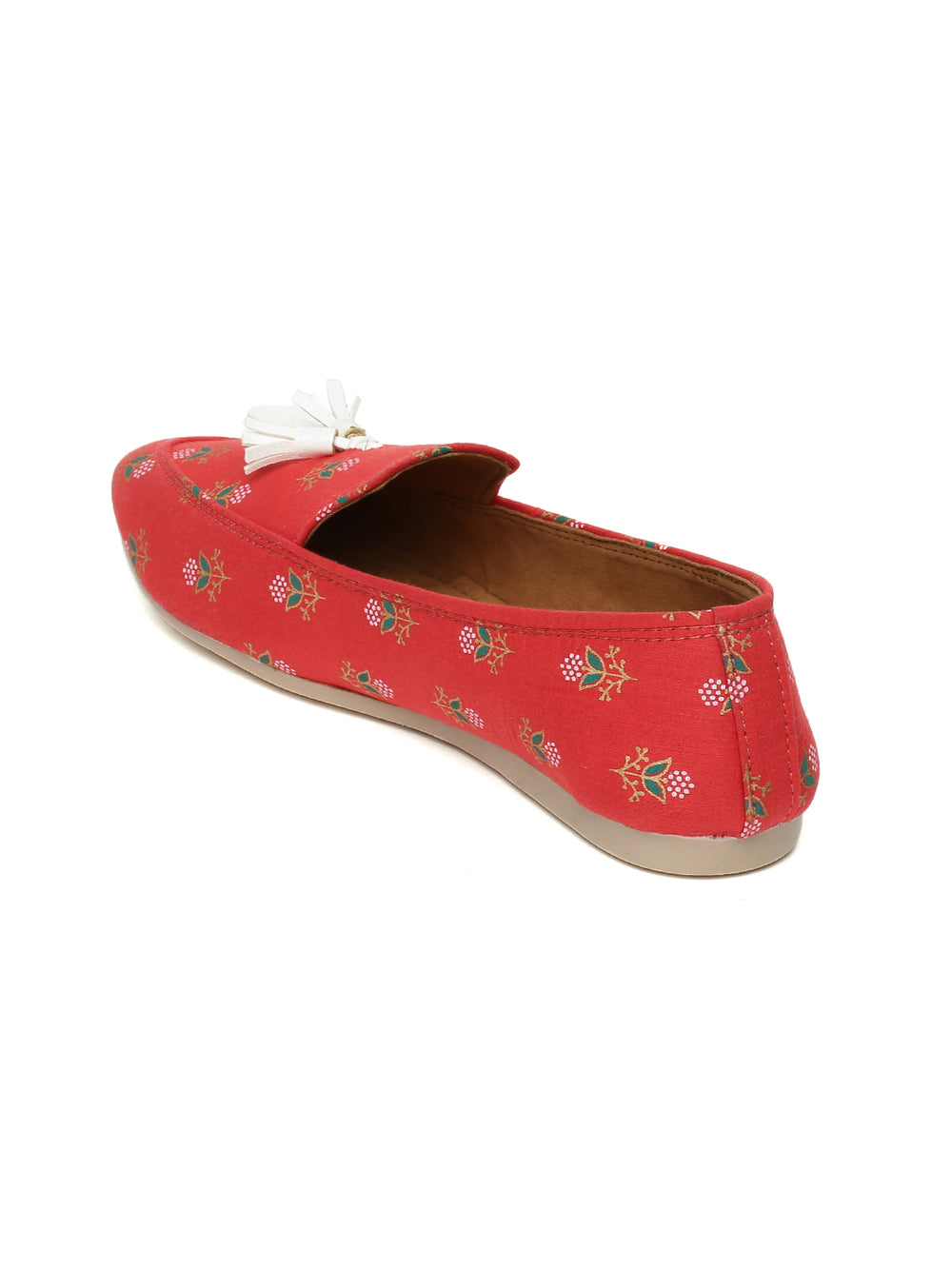 Red Block Printed Loafers
