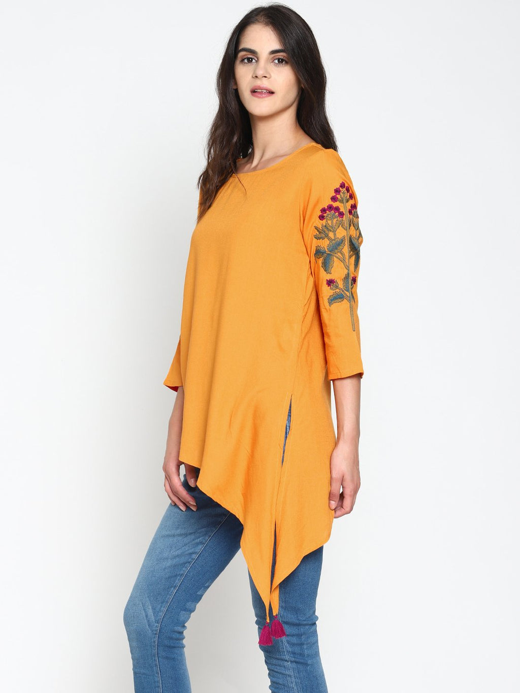 Tunic With Embroidered Sleeves