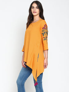 Tunic With Embroidered Sleeves | UNTUNG