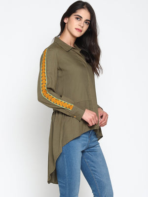 Stylized Shirt With Embroidered Sleeves | UNTUNG