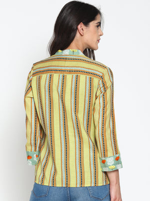 Yellow Printed Shirt | Untung