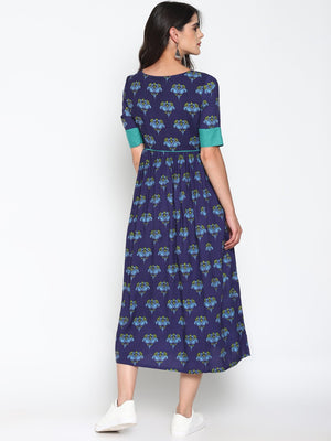 Printed Maxi Dress | UNTUNG