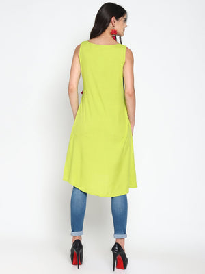 Sleeveless Shift Dress With Tassels | UNTUNG