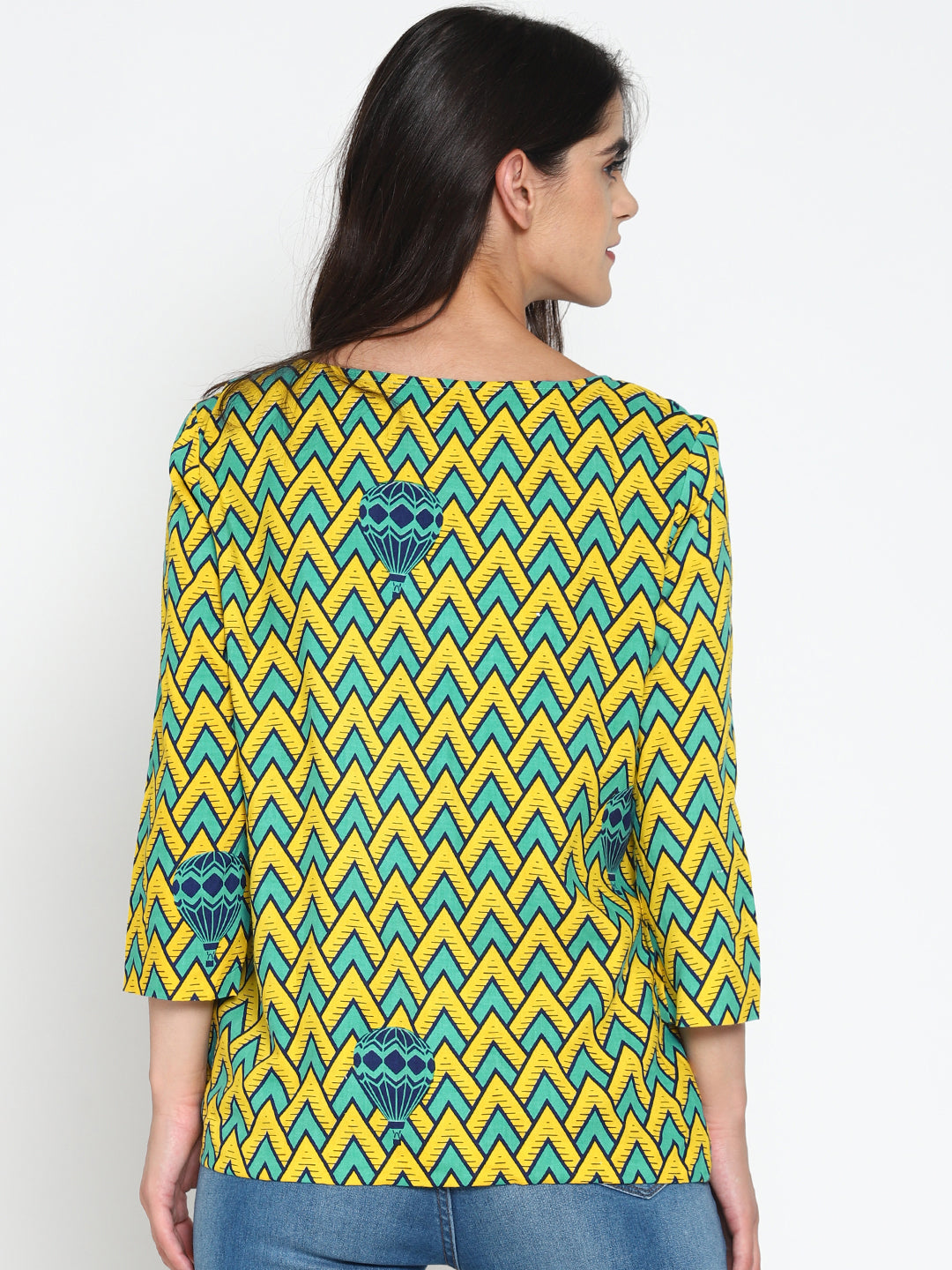 Printed Open-Front Cotton Shrug | UNTUNG
