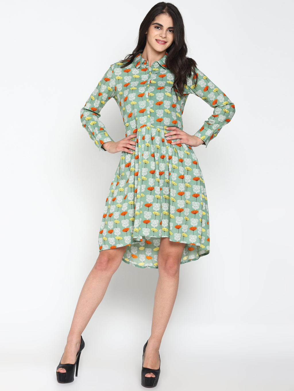 Printed drop waist dress | UNTUNG