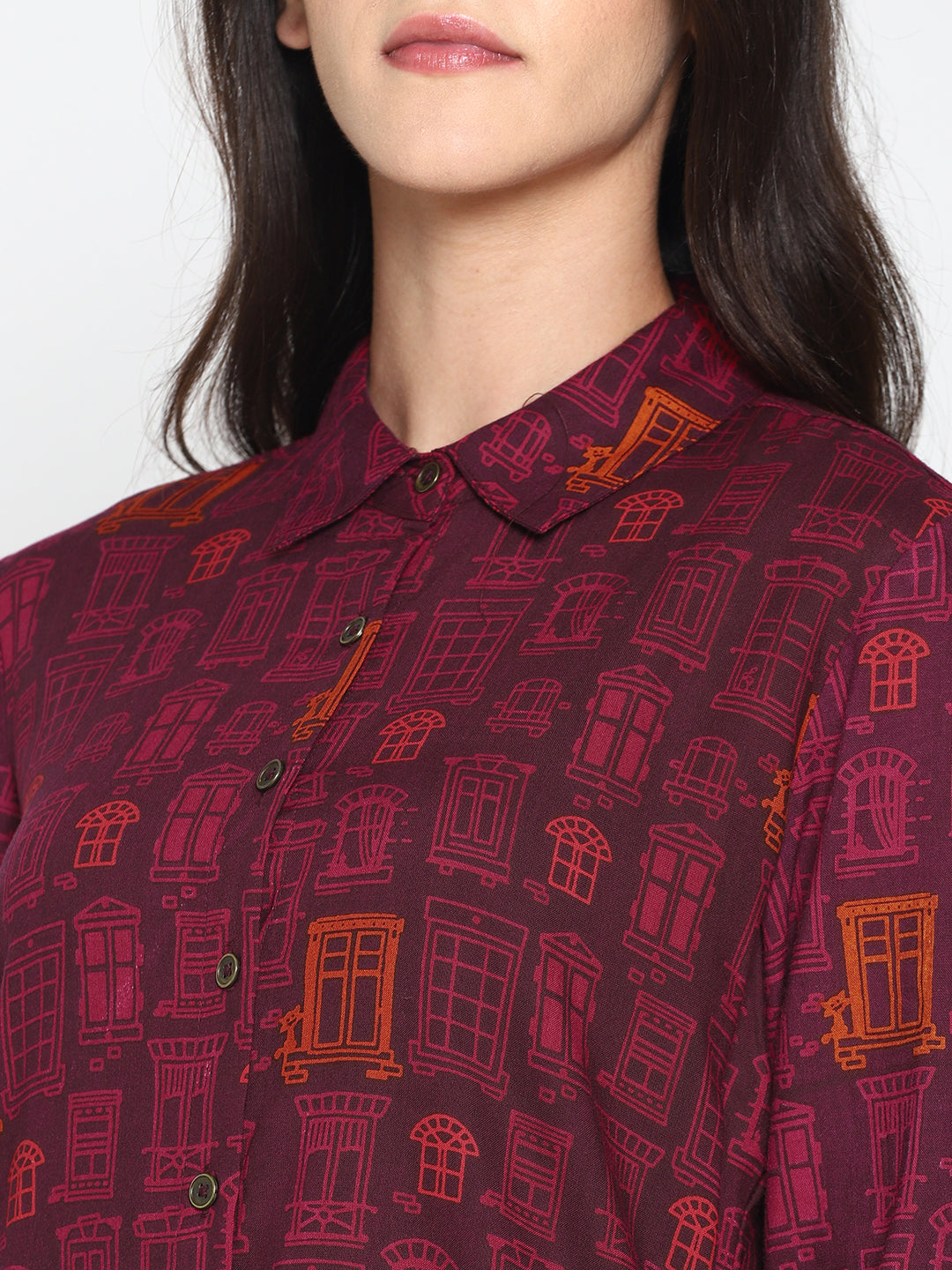 Printed High Low Tunic | UNTUNG