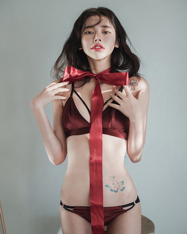 RED VELVET BASIC BRALETTE SET - Bada Korea