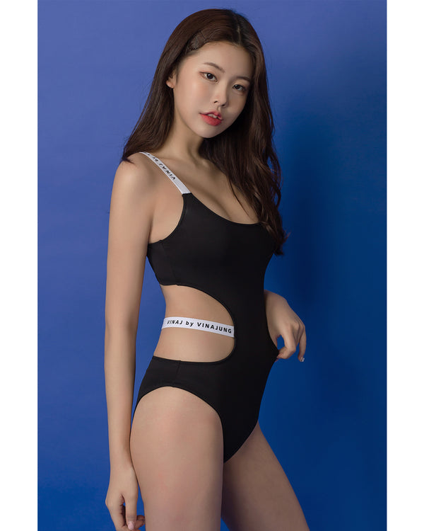 LOGO CUT OUT MONOKINI - Bada Korea
