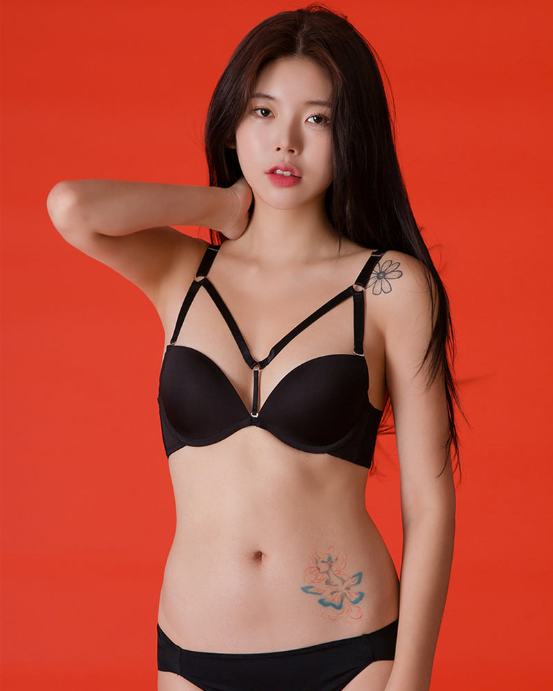 SIMPLE Y PLUNGE BRA - Bada Korea