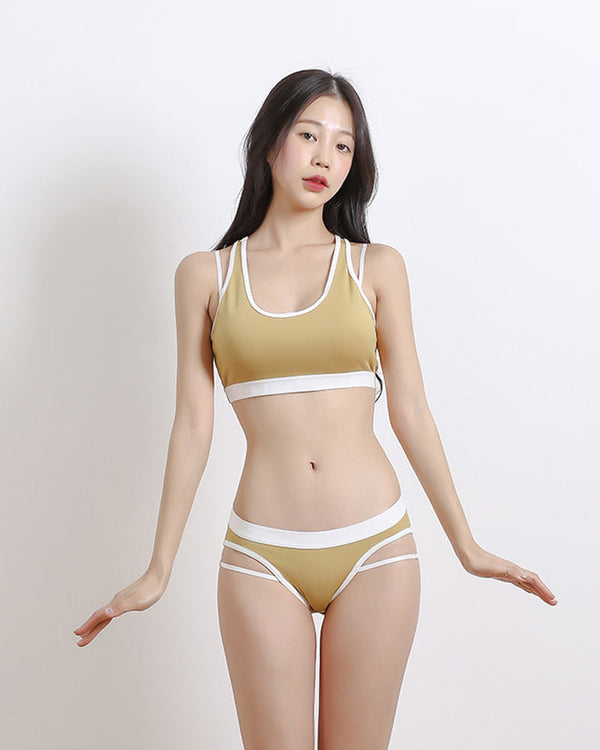 DOUBLE POINT BIKINI YELLOW - Bada Korea
