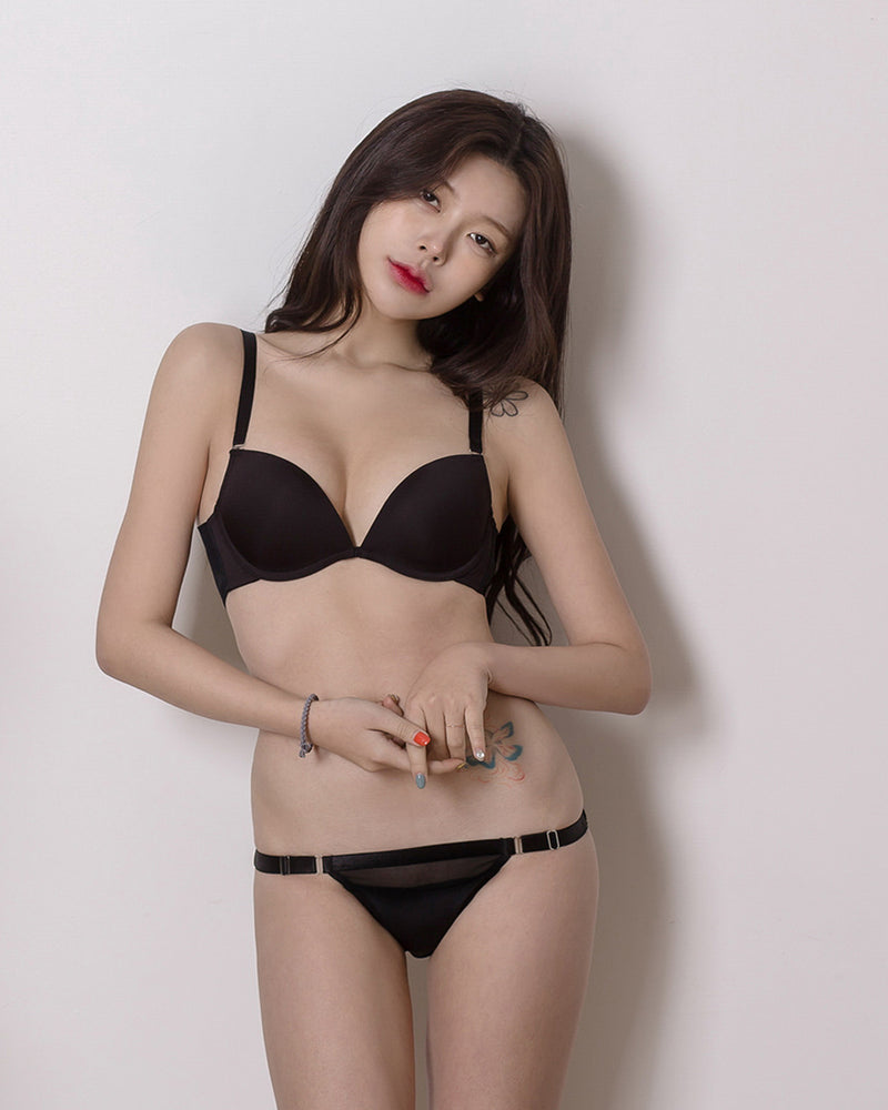 SEE THROUGH ONE STRAP HAMLINE PANTY - Bada Korea