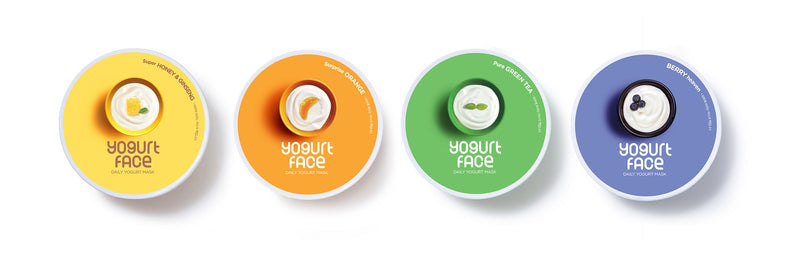Special Package Wash-off Type Mask 4PCS Set - Bada Korea
