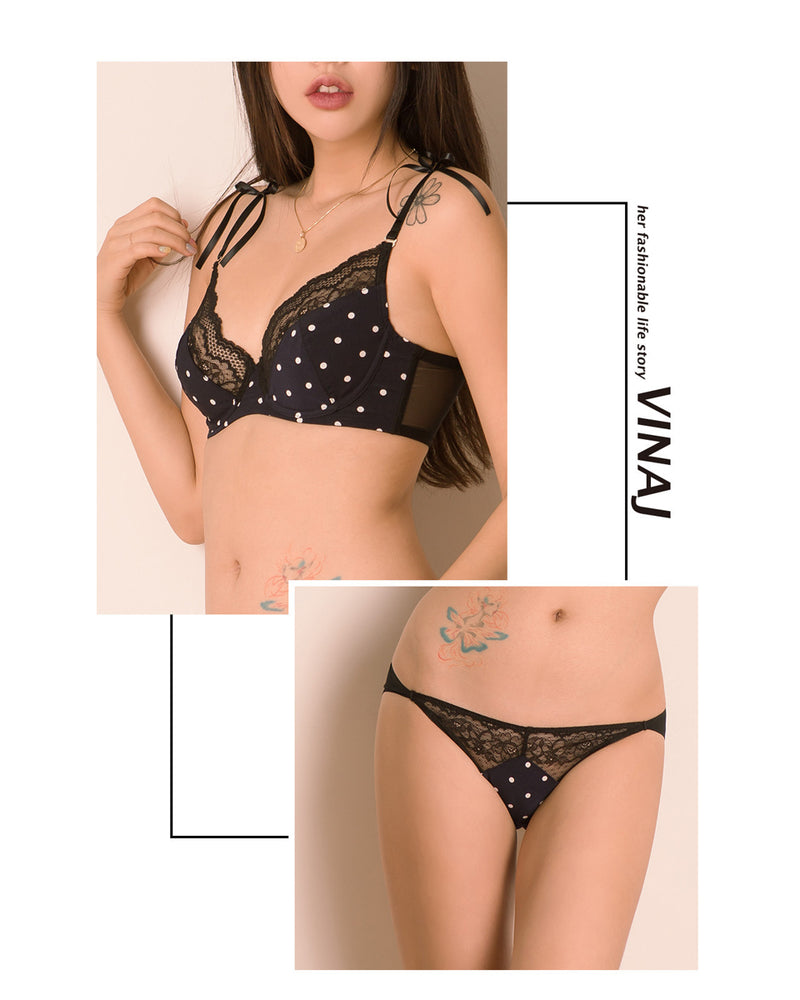POLKA DOTS LACE WIRE SET - Bada Korea