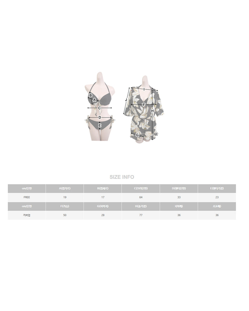 ROMANTIC FLOWER BIKINI (3P) - Bada Korea