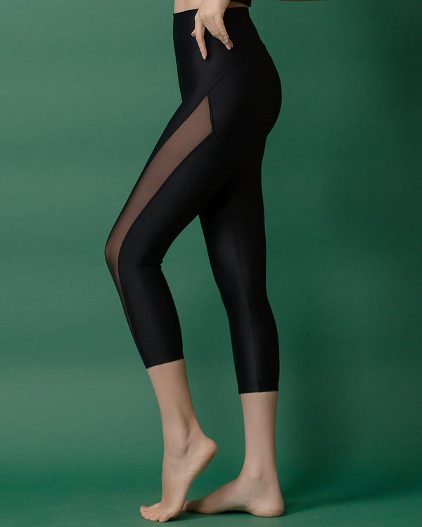 APPLE HIP LEGGINGS BLACK - Bada Korea