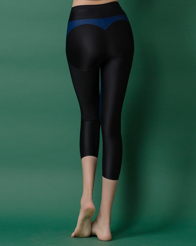 APPLE HIP LEGGINGS NAVY - Bada Korea