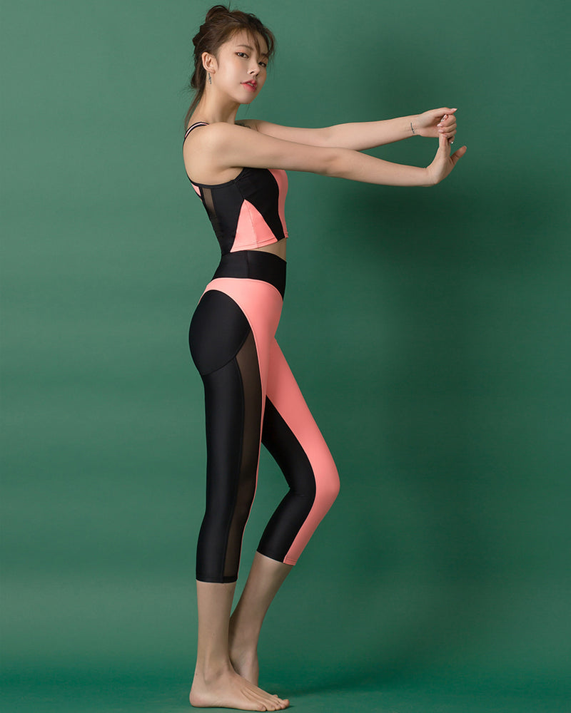 APPLE HIP LEGGINGS SET PEACH - Bada Korea