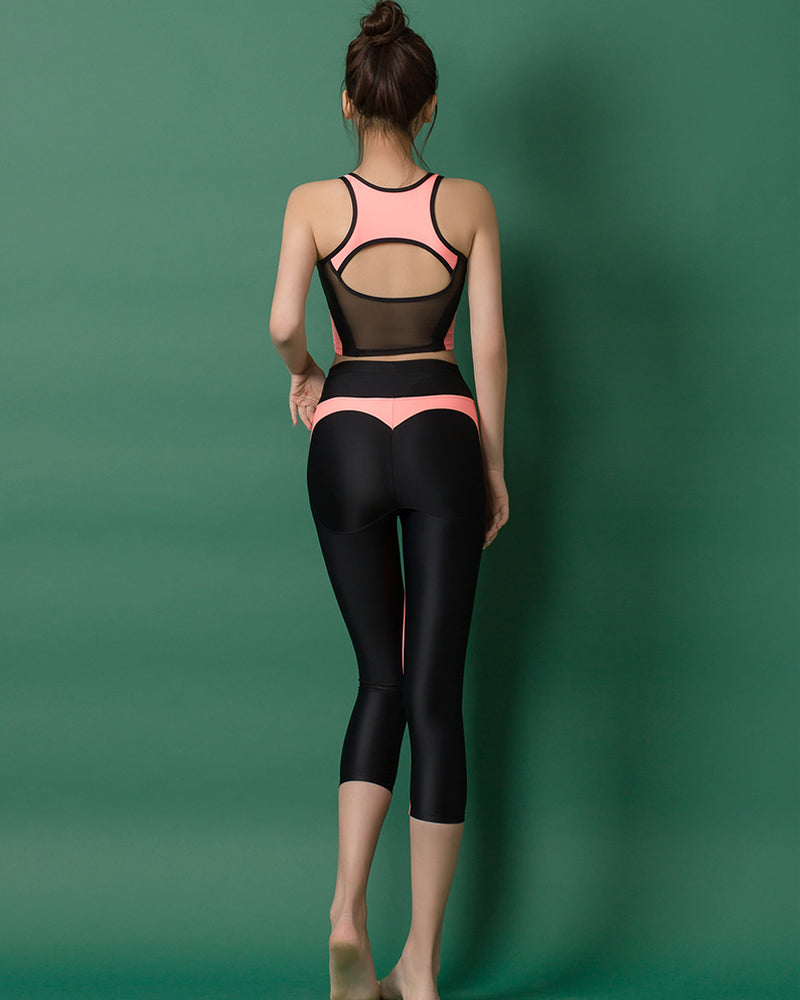 APPLE HIP LEGGINGS PEACH - Bada Korea