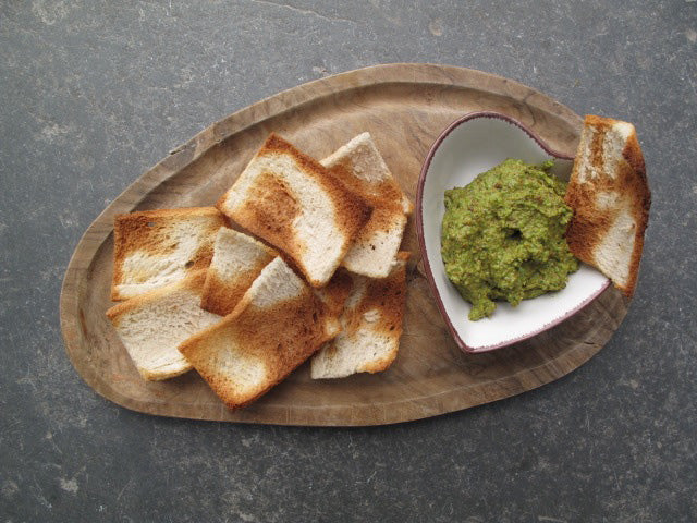 Broad Bean, Pistachio and Basil Hummus