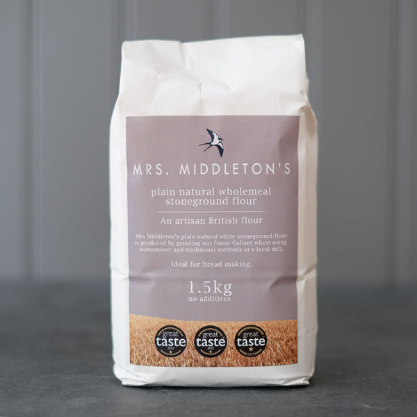 Plain natural wholemeal stoneground flour