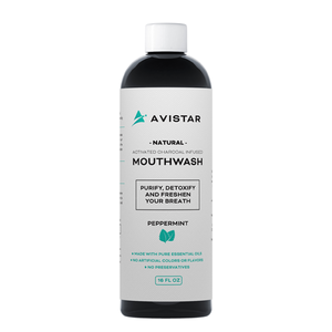 Natural Activated Charcoal Mouthwash