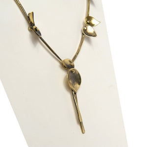 Gusta Handcrafted Bronze Necklace