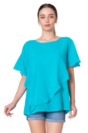 Organic Cotton Blouse - Free flowing - Breathable and Chique